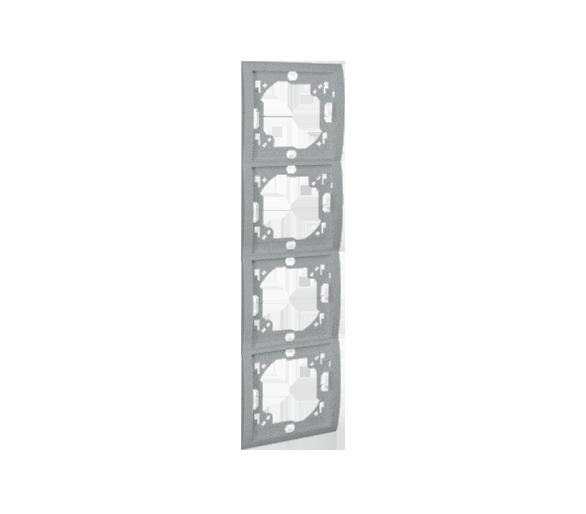 Ramka 4- krotna aluminiowy, metalizowany MR4P/26