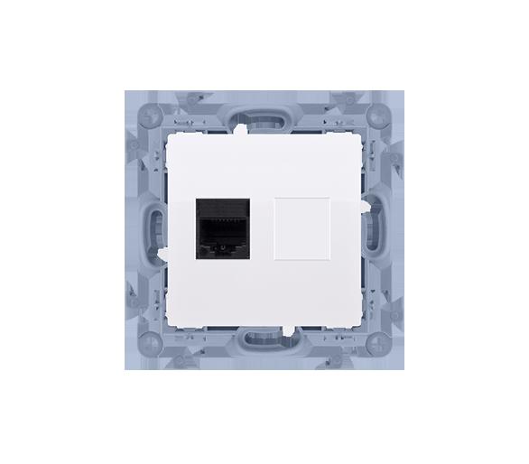 Gniazdo komputerowe pojedyncze RJ45 kategoria 6 biały C61.01/11