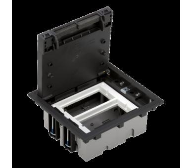 Puszka podłogowa SF prostokątna 4×K45 2×S500 70mm÷105mm szary grafit 52050002-038