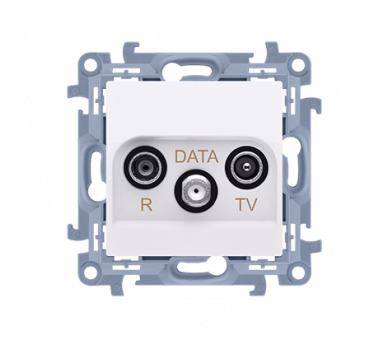 Gniazdo antenowe R-TV-DATA tłum.:10dB biały CAD.01/11