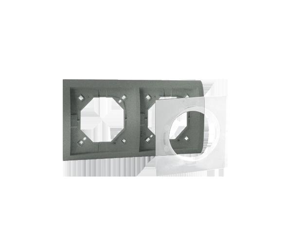 Ramka 2- krotna IP44 grafitowy, metalizowany MR2B/25
