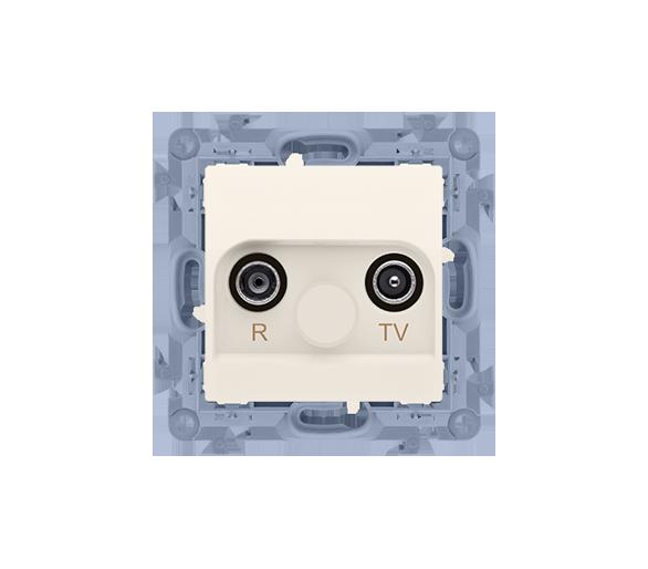 Gniazdo antenowe R-TV przelotowe tłum.:10dB kremowy CAP10.01/41
