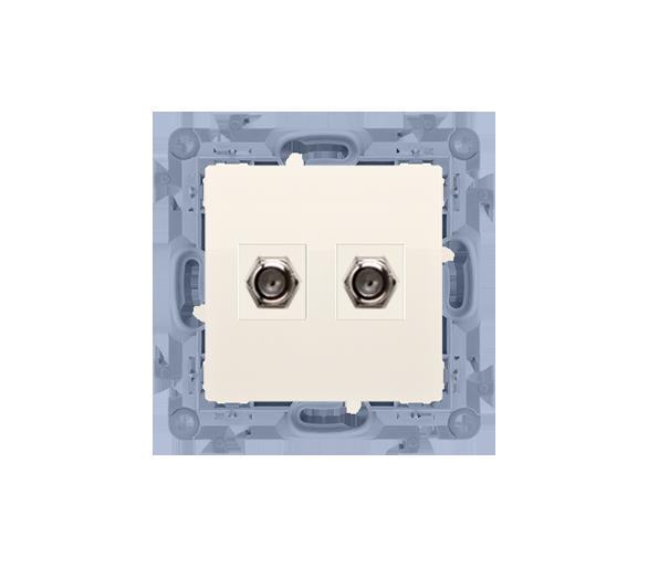 Gniazdo antenowe SAT podwójne końcowe kremowy CASF2.01/41