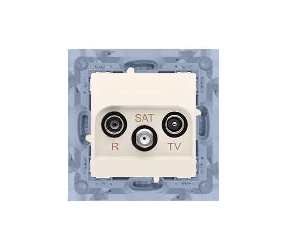 Gniazdo antenowe R-TV-SAT przelotowe tłum.:10dB kremowy