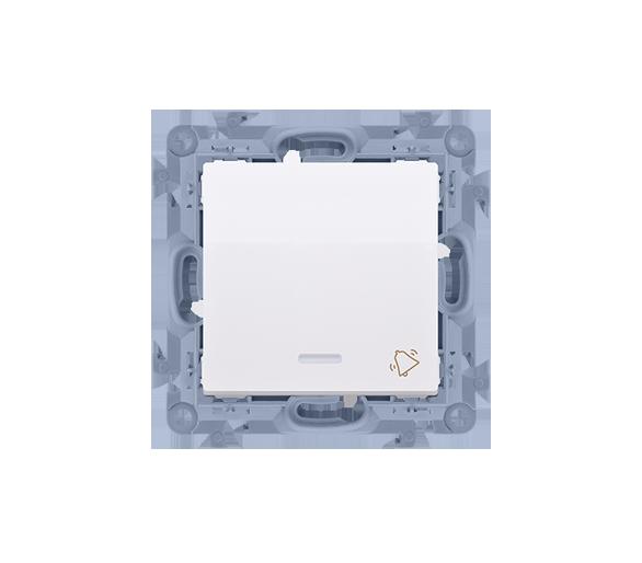 """Przycisk """"dzwonek"""" z podświetleniem LED biały 10AX CD1L.01/11"""