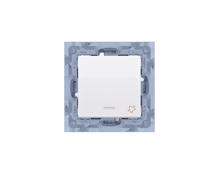 """Przycisk """"dzwonek"""" z podświetleniem LED biały 10AX"""