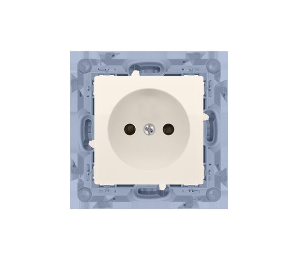 Gniazdo wtyczkowe pojedyncze bez uziemienia kremowy 16A
