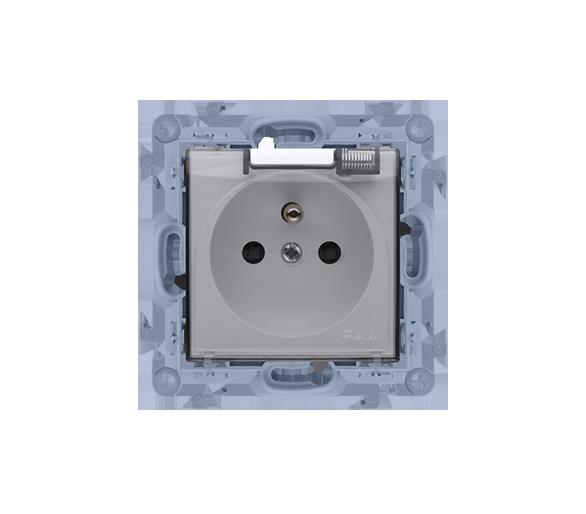 Gniazdo wtyczkowe pojedyncze do wersji IP44 - z uszczelką -  klapka w kolorze transparentnym biały 16A