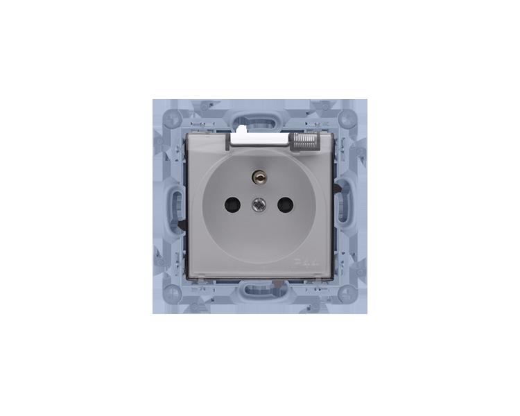 Gniazdo wtyczkowe pojedyncze do wersji IP44 - z uszczelką -  klapka w kolorze transparentnym biały 16A CGZ1B.01/11A