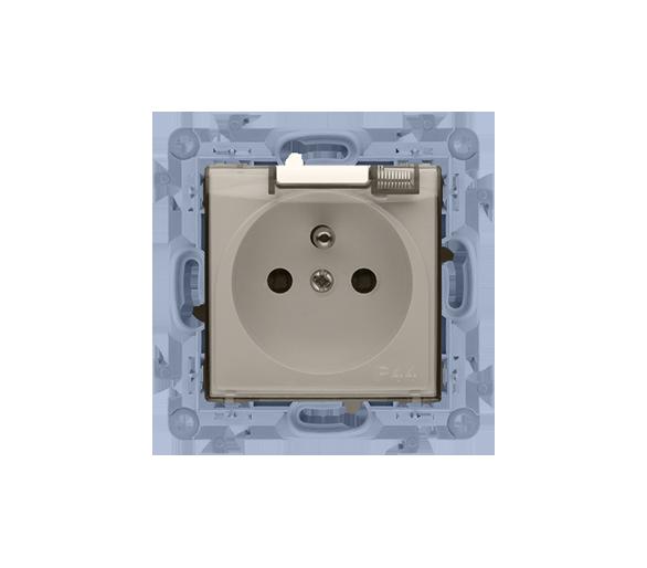 Gniazdo wtyczkowe pojedyncze do wersji IP44 - z uszczelką -  klapka w kolorze transparentnym kremowy 16A