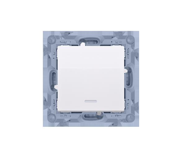 Przycisk pojedynczy zwierny bez piktogramu z podświetleniem LED biały 10AX CP1L.01/11