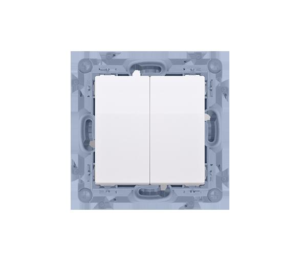 Przycisk podwójny biały 10AX