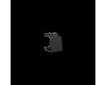 Zaślepka otworu wtyku RJ45/RJ12  pokrywy gniazda teleinformatycznego grafit mat, metalizowany BWB/28