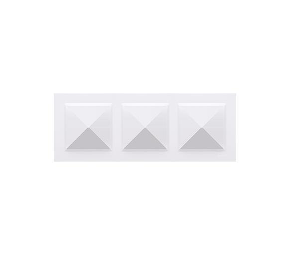 Ramka 3- krotna biały CR3/11