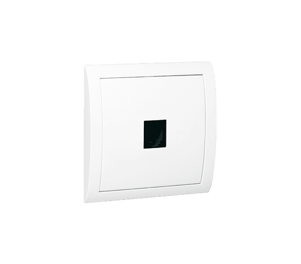 Gniazdo telefoniczne pojedyncze RJ11 biały MTU/11