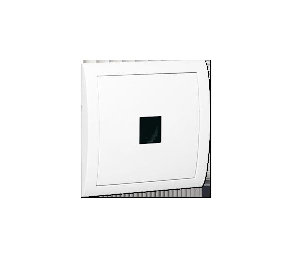 Gniazdo telefoniczne pojedyncze RJ12 biały MTO/11