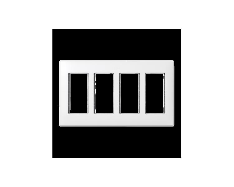 Ramka obudowy SIMON 500 4×S500 8×K45 czysta biel 51010104-030