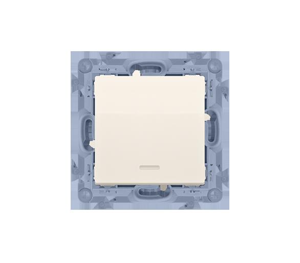 Łącznik jednobiegunowy z podświetleniem LED kremowy 10AX