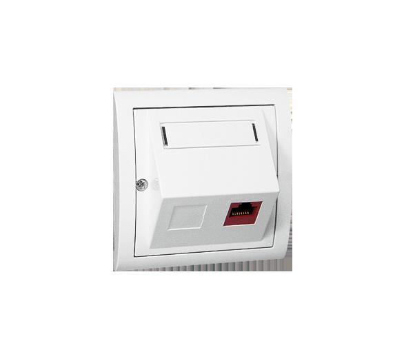 Gniazdo komputerowe pojedyncze RJ45 kategoria 5e biały M51S/11
