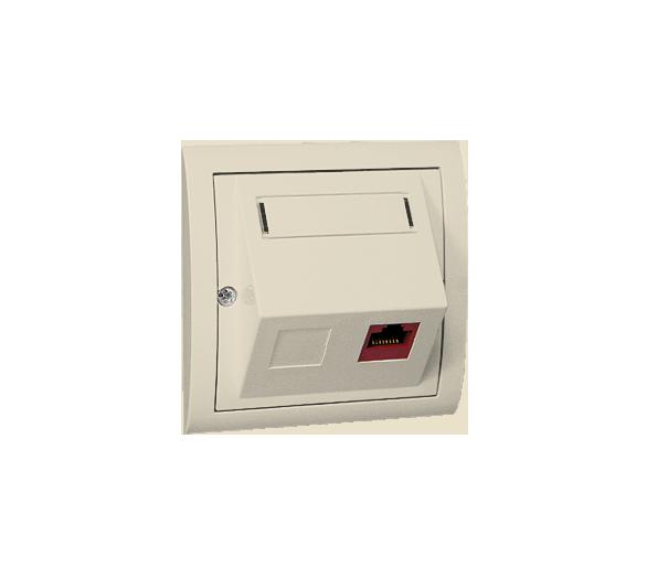Gniazdo komputerowe pojedyncze RJ45 kategoria 5e beżowy M51S/12