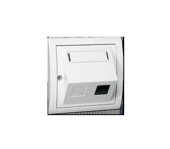 Gniazdo komputerowe RJ45 kategoria 5e biały