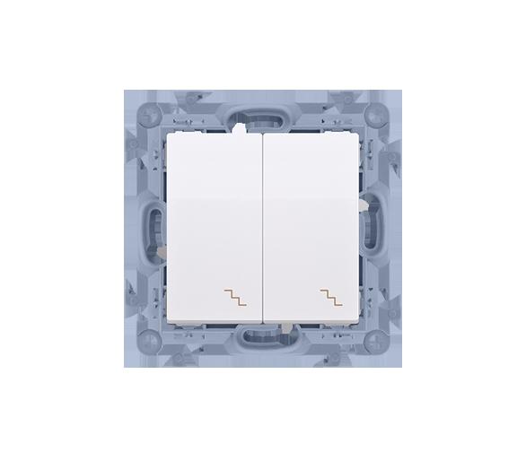 Łącznik schodowy podwójny biały 10AX