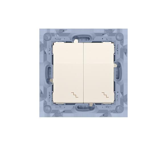 Łącznik schodowy podwójny kremowy 10AX