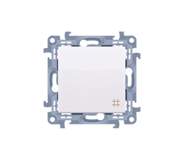 Łącznik krzyżowy biały 10AX