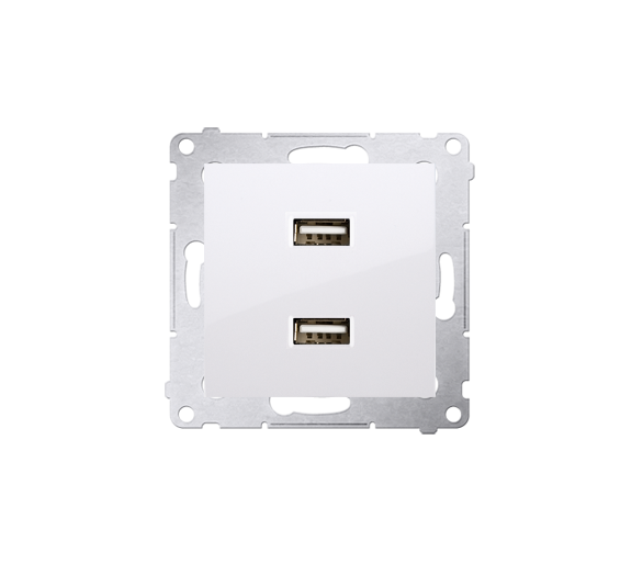 Ładowarka USB ładowarka USB podwójna biały DC2USB.01/11