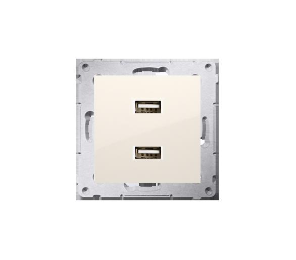 Ładowarka USB ładowarka USB podwójna kremowy DC2USB.01/41
