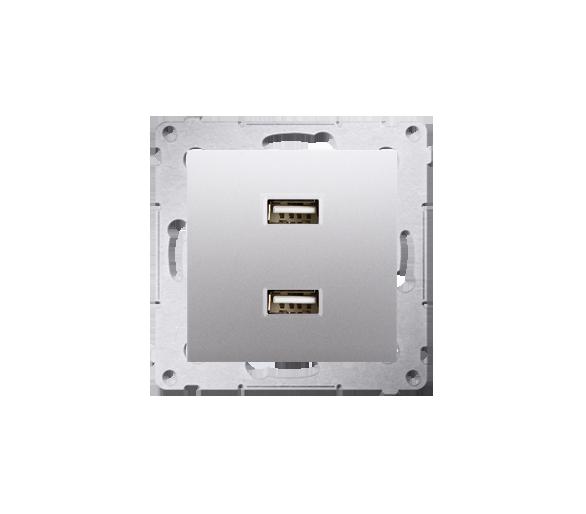 Ładowarka USB ładowarka USB podwójna srebrny mat, metalizowany DC2USB.01/43