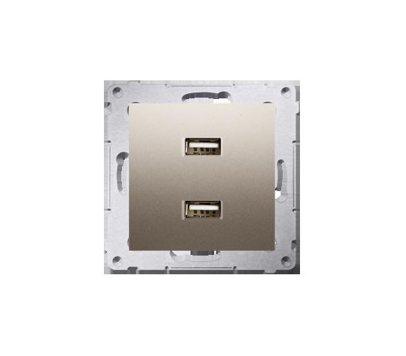 Ładowarka USB ładowarka USB podwójna złoty mat, metalizowany DC2USB.01/44