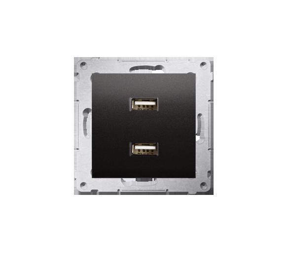 Ładowarka USB ładowarka USB podwójna antracyt, metalizowany DC2USB.01/48