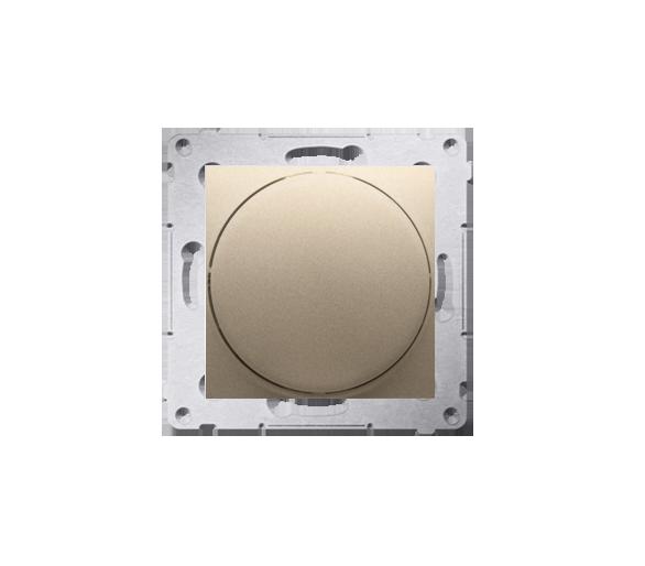 Ściemniacz do LED ściemnialnych, naciskowo-obrotowy, jednobiegunowy złoty mat, metalizowany W układzie schodowym:Tak DS9L.01/44