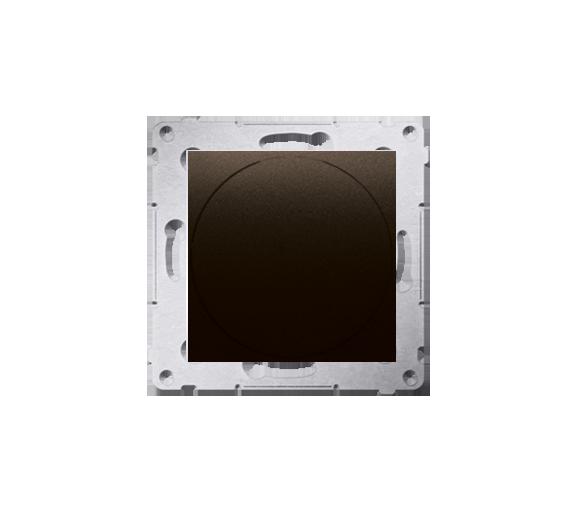 Ściemniacz do LED ściemnialnych, naciskowo-obrotowy, jednobiegunowy brąz mat, metalizowany W układzie schodowym:Tak DS9L.01/46