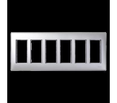 Ramka obudowy SIMON 500 6×S500 12×K45 aluminium 51010106-033