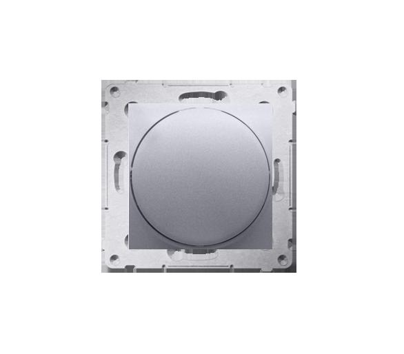 Ściemniacz do LED ściemnialnych, naciskowo-obrotowy, jednobiegunowy srebrny mat, metalizowany W układzie schodowym:Tak DS9L.01/4