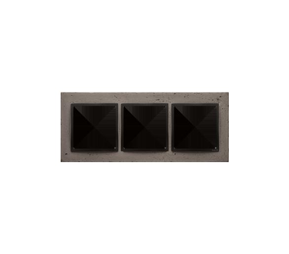 Ramka 3-krotna betonowa Szorstka przyjaźń DRN3/97