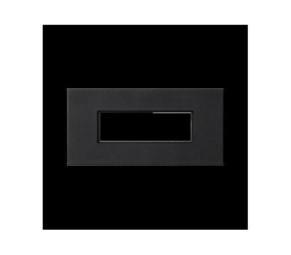 Plakietka przyłączeniowa K45 złącze 5-polowe do złącza GESIS® 90×45mm szary grafit K18W5/14