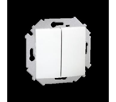 Łącznik świecznikowy (moduł) 16AX 250V, zaciski śrubowe, biały 1591398-030