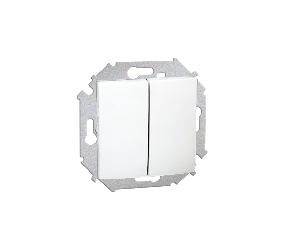 Łącznik świecznikowy (moduł) 16AX 250V, zaciski śrubowe, biały