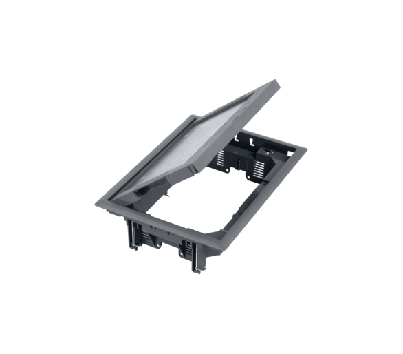 Puszka podłogowa FB prostokątna 8×K45 5mm szary FB24005/1