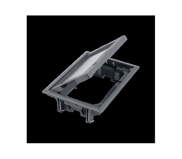 Puszka podłogowa FB prostokątna 8×K45 12mm z zamkiem szary FB24112/1