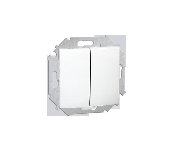 Łącznik schodowy podwójny (moduł) 16AX 250V, zaciski śrubowe, biały 1591397-030