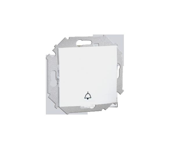 """Przycisk """"dzwonek"""" (moduł) 16AX 250V, zaciski śrubowe, biały 1591659B-030"""