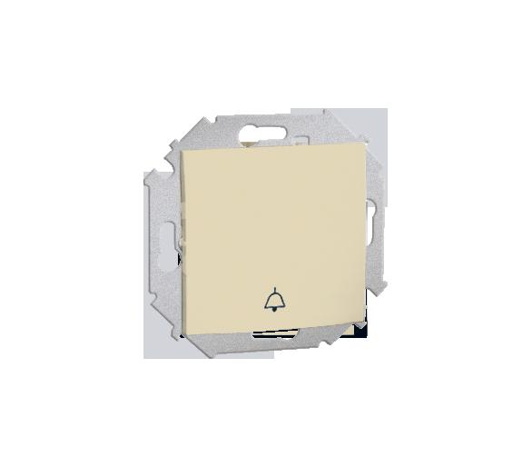 """Przycisk """"dzwonek"""" (moduł) 16AX 250V, zaciski śrubowe, beżowy 1591659B-031"""