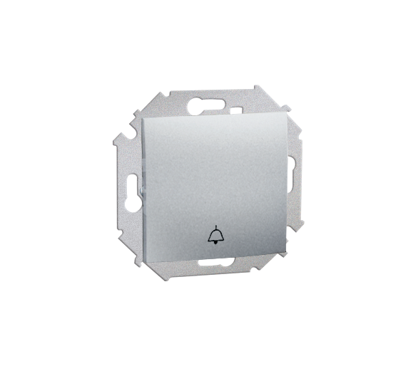 """Przycisk """"dzwonek"""" (moduł) 16AX 250V, zaciski śrubowe, aluminiowy, metalizowany 1591659B-026"""