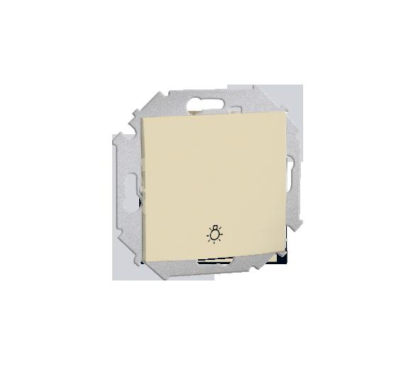 """Przycisk """"światło"""" (moduł) 16AX 250V, zaciski śrubowe, beżowy 1591651-031"""