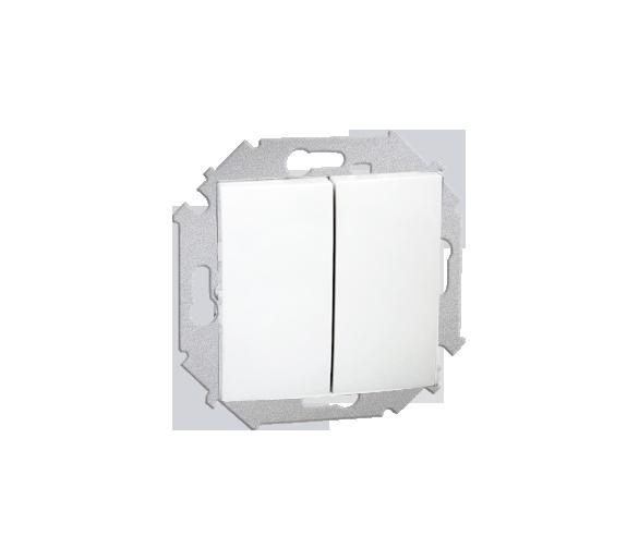 Przycisk podwójny zwierny bez piktogramu (moduł) 16AX 250V, zaciski śrubowe, biały 1591396-030