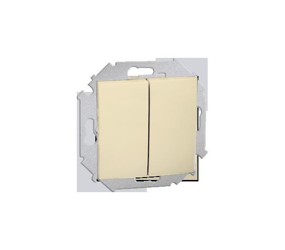 Przycisk podwójny zwierny bez piktogramu (moduł) 16AX 250V, zaciski śrubowe, beżowy 1591396-031